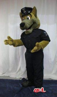 Customized Police Dog Mascot Costume Adult Size Cheap