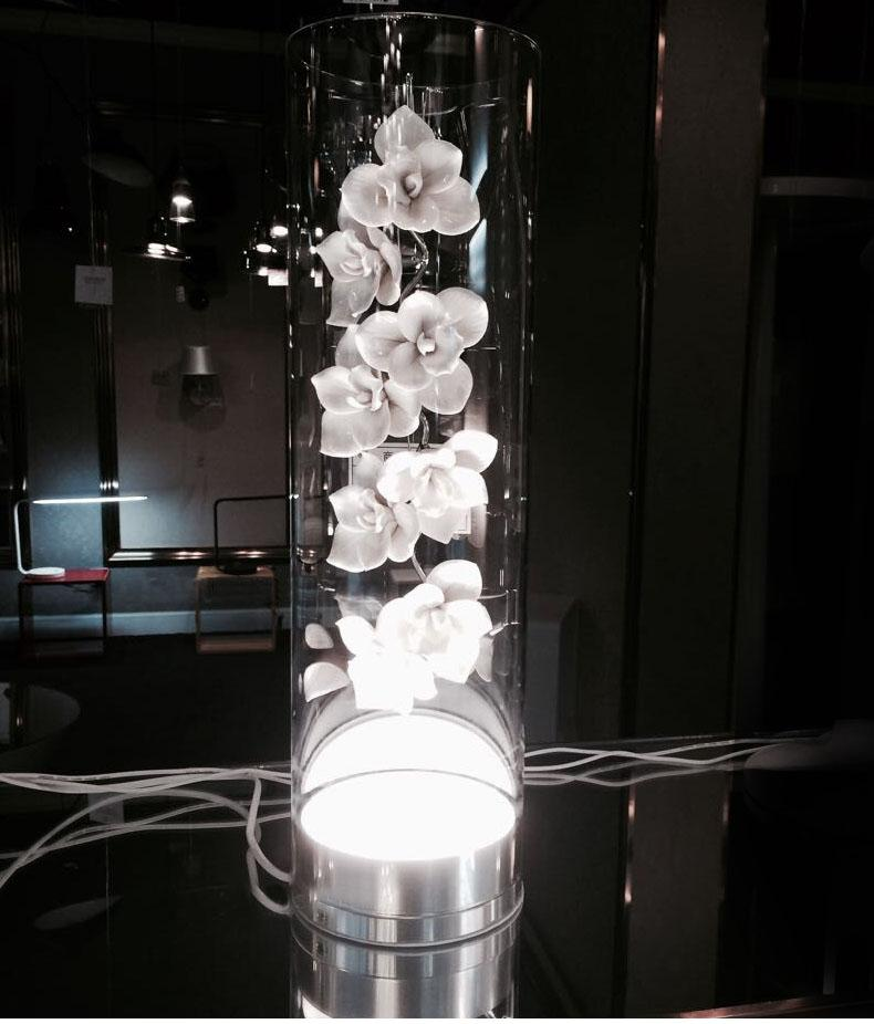 Best Led Ceramic Petal Glass Table Lamp Creative Fashion Glass - glass table lamps for living room