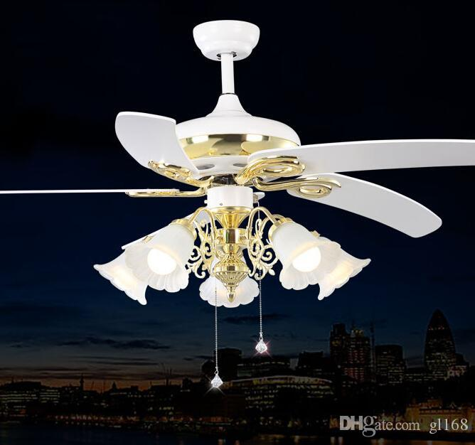 2017 Vintage Ceiling Fans Pendant Lamp In White Color Led