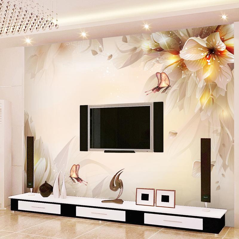Fantasy Lily Mural Background Wall Wallpaper 3d Wallpaper Mural - 3d wallpaper for living room