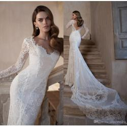 Small Crop Of Lace Long Sleeve Wedding Dress