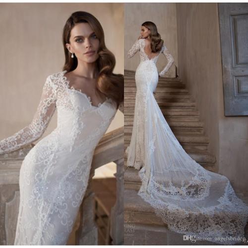 Medium Crop Of Lace Long Sleeve Wedding Dress