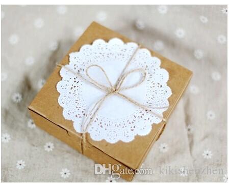 Diy Kraft Paper Gift Box Wedding Party Favor Soap Cake