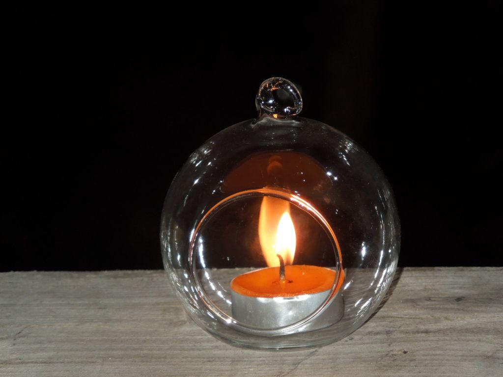 8cm 10cm Glass Ball Candleshanging Tea Light Glass