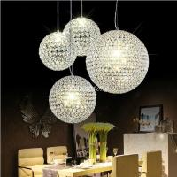 2015 New Crystal Round Ball Chandeliers LED Lighting ...
