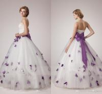 Discount White And Purple Wedding Dresses 2018 Unique A