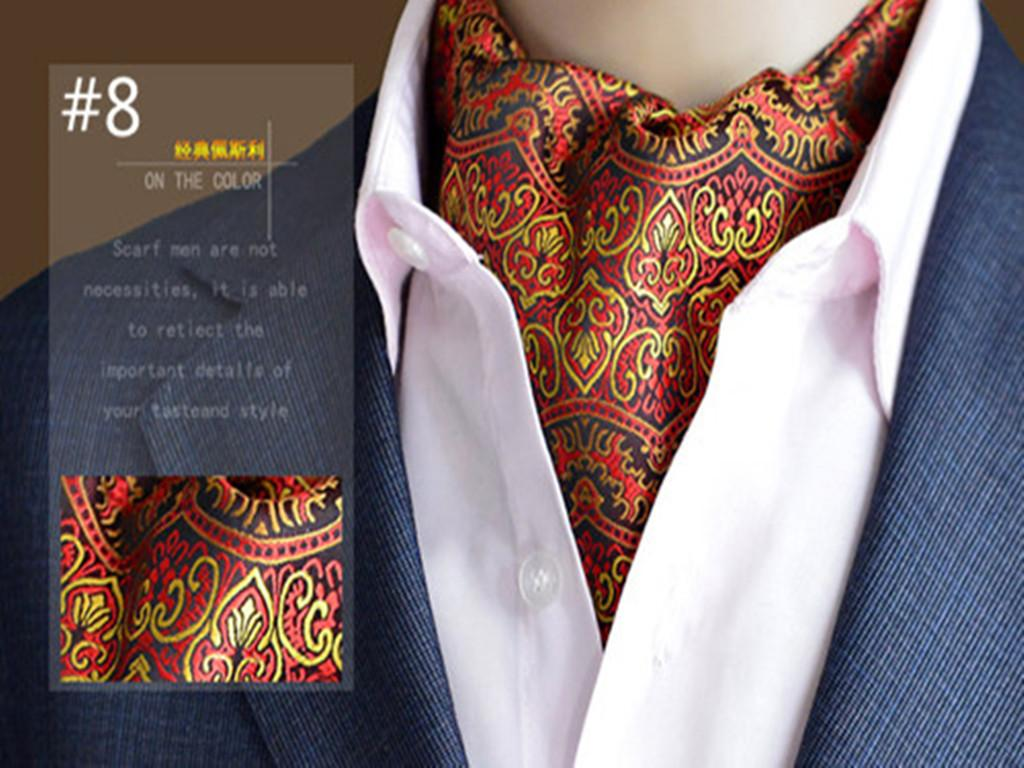 2017 High Quality Brand Scarves Mens Suit Paisley Printing