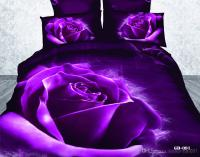 3d Purple Rose Bedding Sets Comforter Set 100% Cotton ...
