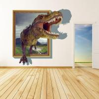 2015 3d Wall Stickers for Kids Rooms Boys Dinosaur Decals