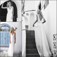 2016 Flowing Soft Chiffon Spring Summer Wedding Dresses ...