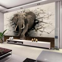 Custom 3d Elephant Wall Mural Personalized Giant Photo ...