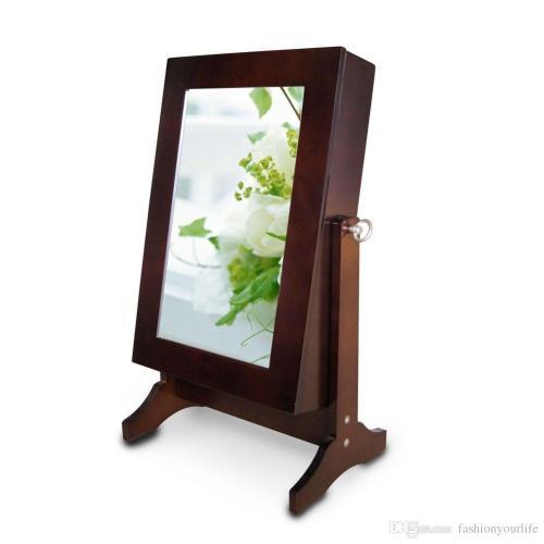 Medium Of Mirrored Jewelry Box