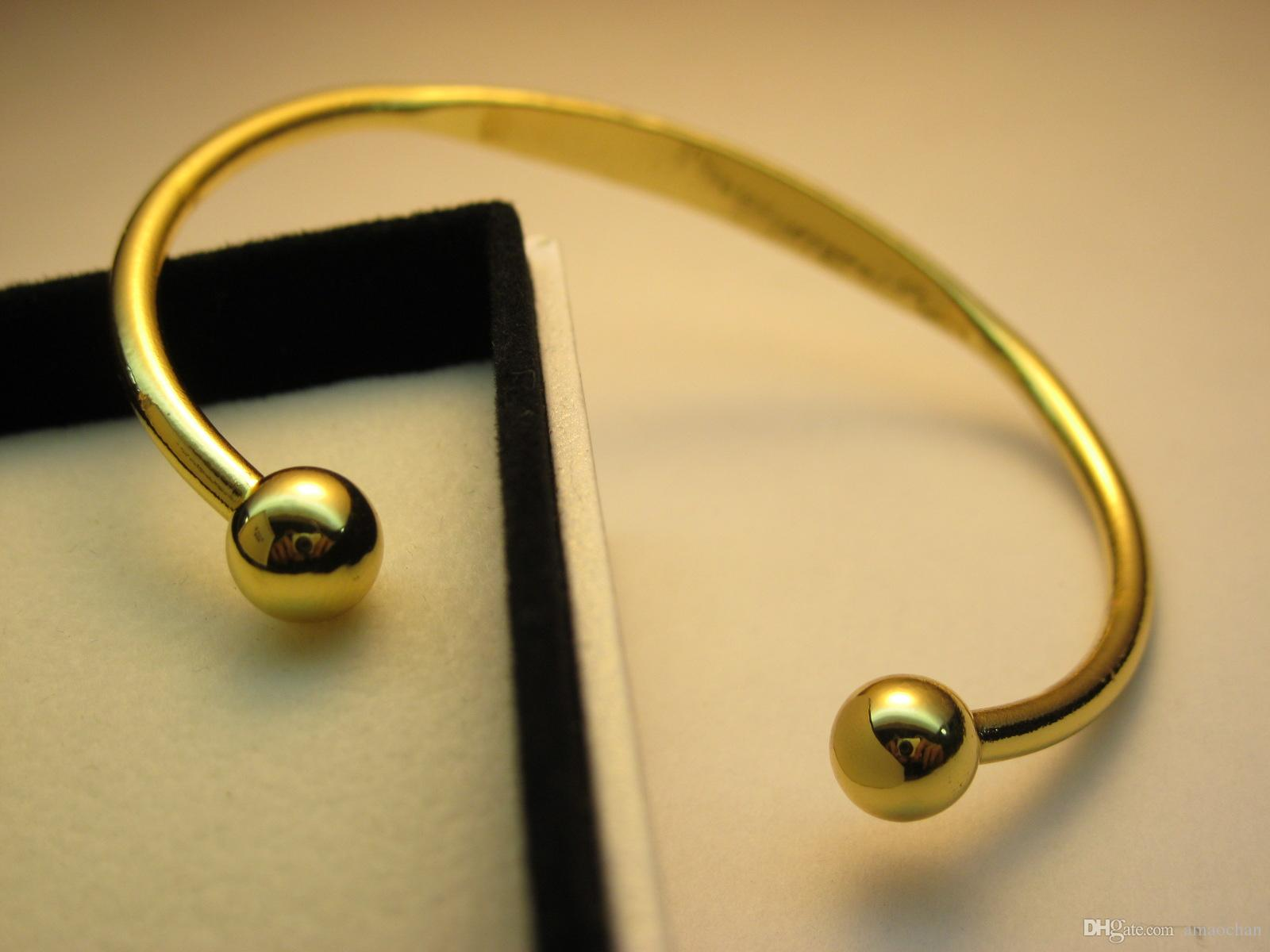 Gold Plated Magnetic Mens Women Copper Bracelet Bangle