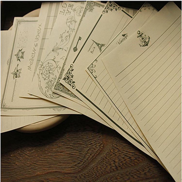 Stationery Classical Vintage Pattern Design Kraft Letter Paper