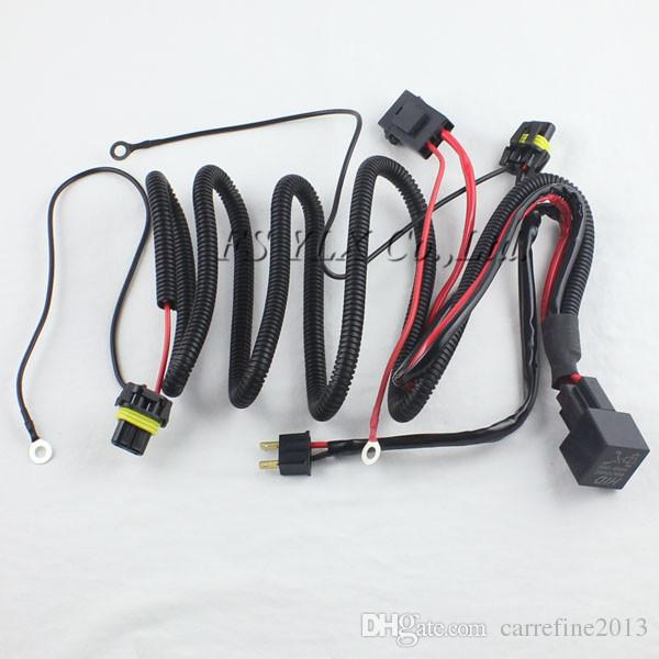 1 X HID Xenon Kit Single Beam Wire Harness Cable With Relay For H1