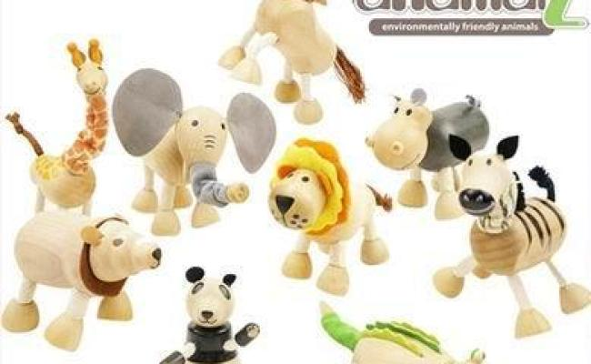 Online Cheap Anamalz Moveable Maple Wooden Animals