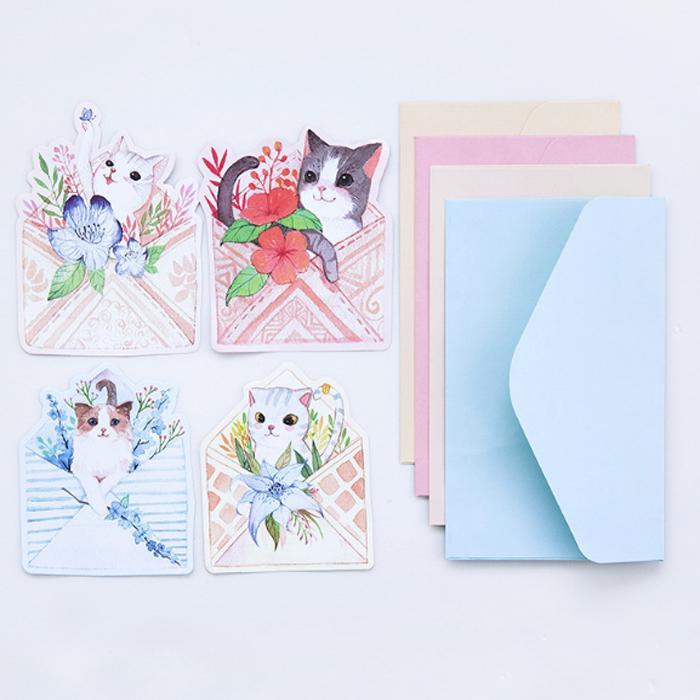 2018 Wholesale New Cute Cat Writing Paper Envelopes Letterhead