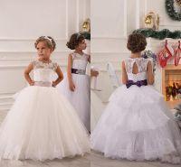 2015 Summer Flower Girl Dresses For Weddings Ball Gown ...