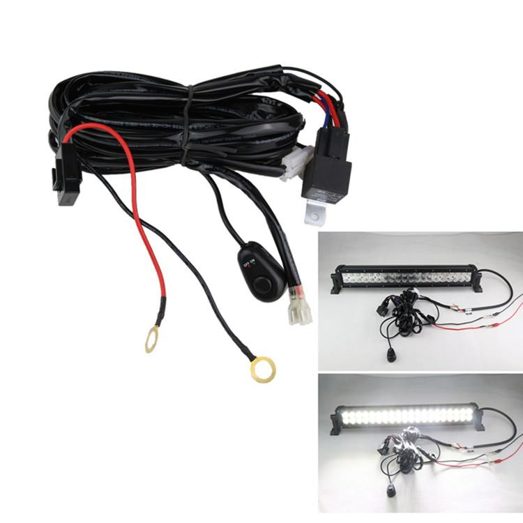 light bar wire harness illuminator round led driving lights pair led