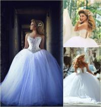 2015 Princess Ball Gown Wedding Dresses With Sweetheart ...