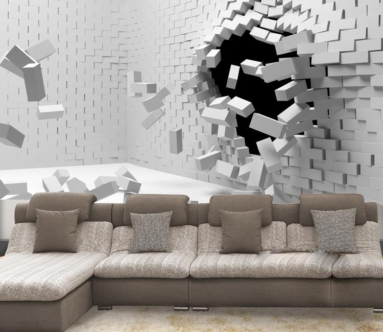 2016 New Hot Sale 3d Art Can Be Customized Large Scale Mural - 3d wallpaper for living room