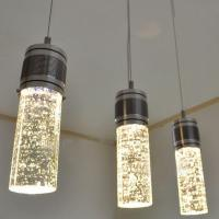 Modern LED Bubble Column Crystal Hanging Lamp Three Lamps ...