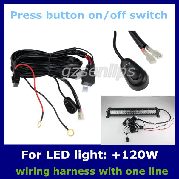 2019 Auto Wiring Harness Kit LED HID Light Bar Wire Switch Plainless