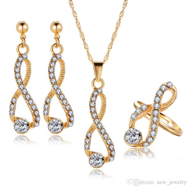 2019 NEW Arrived Wedding Dinner Premium Jewelry Set Luxury Crystal