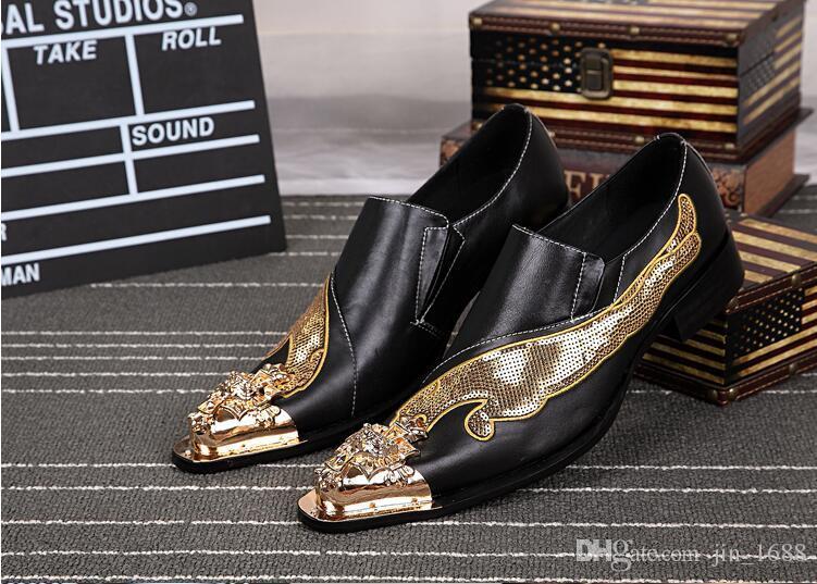 New Handmade Shoes Men Bling Bling Glitter Dress Shoes