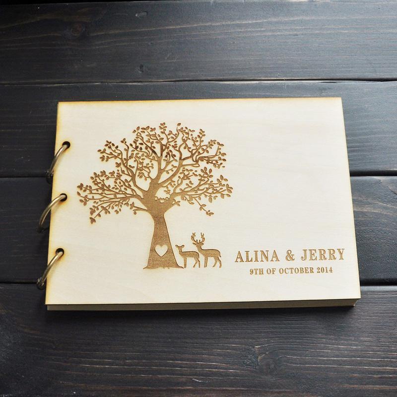 Custom Wedding Guest Book ,engagement Anniversary Gift , Wedding