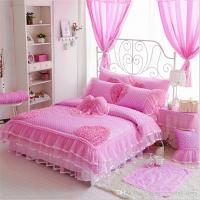 Luxury Cotton Bedding Sets Polka Dot Lace Kids Crib ...