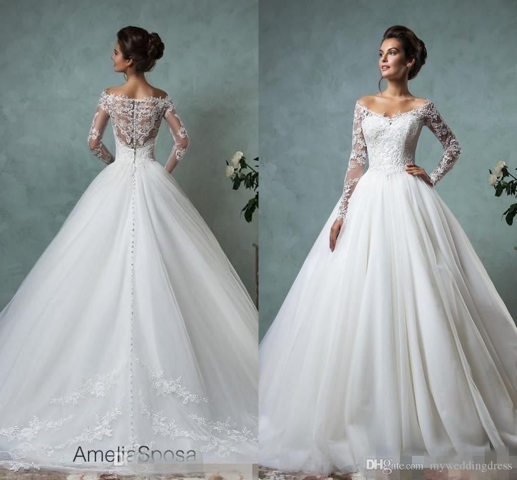 Fullsize Of Lace Sleeve Wedding Dress