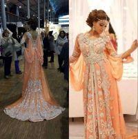 Elegant Kaftan Abaya Arabic Evening Dresses Beaded Sequins ...