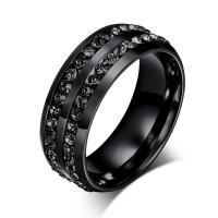 Black Crystal His And Her Promise Ring Sets Wedding Rings ...