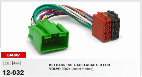 Carav 12 032 Iso Radio Adapter For Volvo 2004+ Select Models Wiring