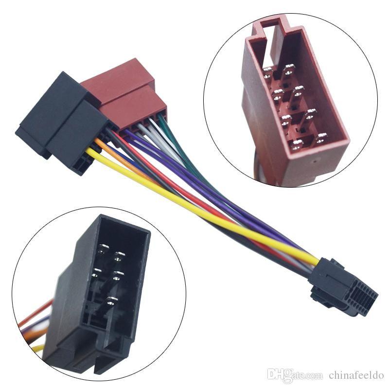 2019 Wholesale Car Stereo Radio 16 Pin PI100 ISO Wiring Harness
