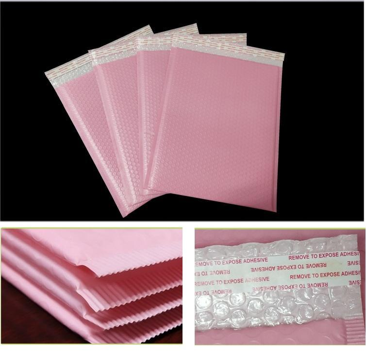 4 Sizes Pink Poly Bubble Mailer Envelopes Padded Mailing Bag Self