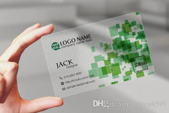 Custom business card printing/ plastic transparent pvc card  print/waterproof/ name/visiting card Free Shipping