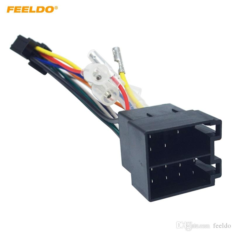2019 FEELDO Car Stereo Radio ISO 16 Pin PI100 Wire Harness Adapter
