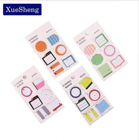 2019 Fresh Style Schedule Marker Self Adhesive Memo Pad Sticky Notes