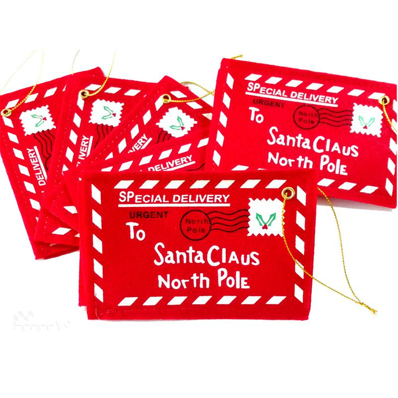 Letter Candy Bag To Santa Claus Felt Envelope Embroidery Christmas