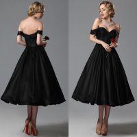 2015 Vintage Black Wedding Dresses A Line Sweetheart Off ...