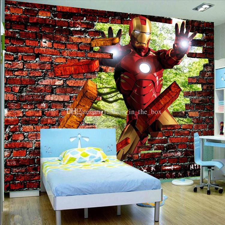 Gambar Wallpaper Dinding 3d Avengers Iron Man Photo Wallpaper 3d Bricks Wallpaper