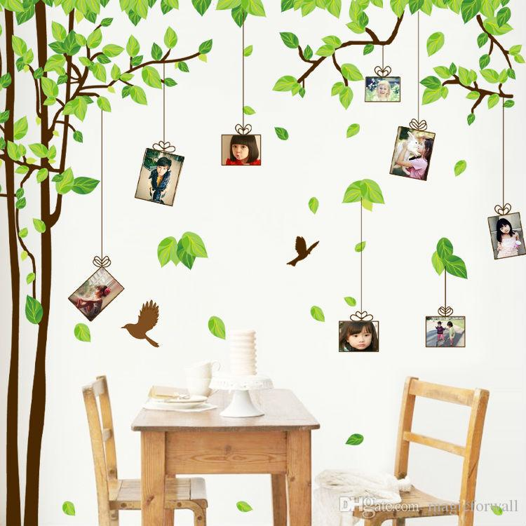 Large Family Tree Picture Photo Frame Wall Decal Living Room - large wall decals for living room