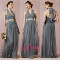 New 2015 Grey Purple Bridesmaid Dresses For Womens Halter ...