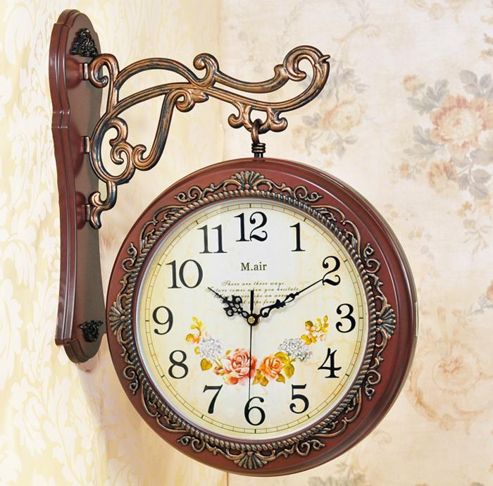 Vintage Wall Clocks European Style Retro Decorative Nostalgic Wall - living room clock