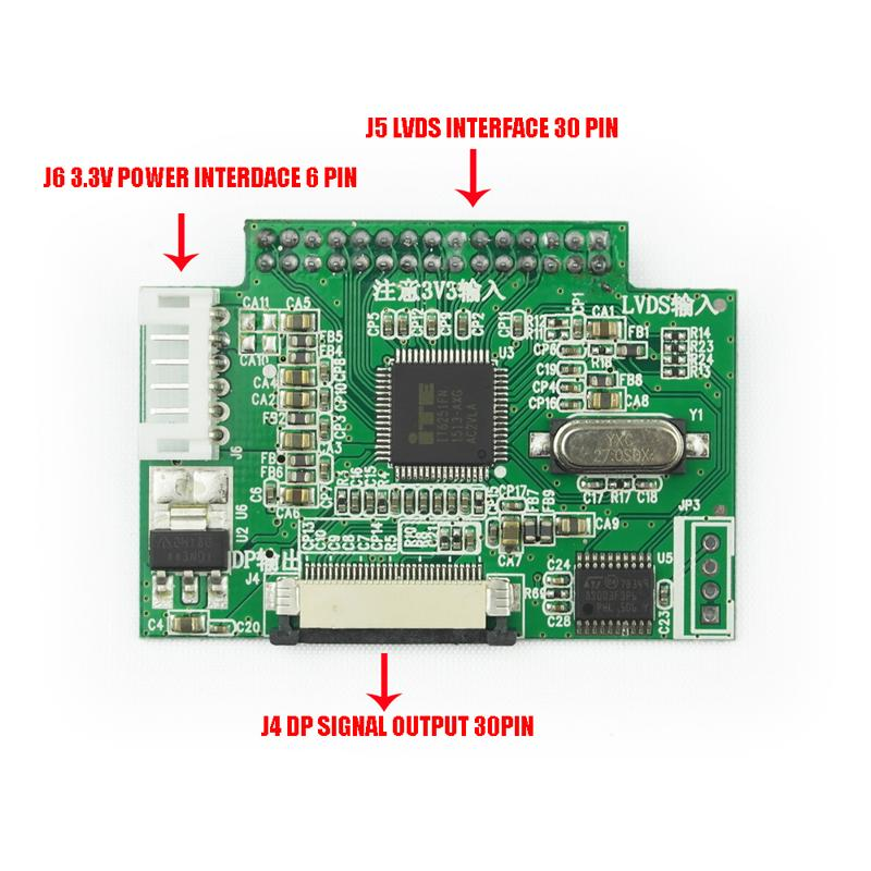 For Laptop Monitor Wiring Diagram 3 3v 30 Pin Lvds Turn To Edp Signal Lcd Converter Board
