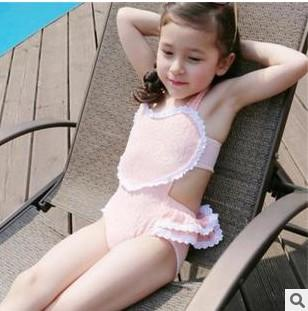 Nn 3d Wallpaper 2017 2016 Childrens Swimwear Korean Lace Heart Ruffle Kids