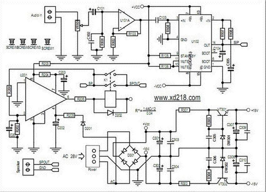 image audio amplifier circuit board