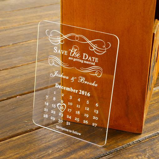 FREE Customized Engraved Save The Date Cards ,Acrylic Wedding